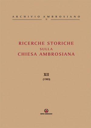 RICERCHE-STORICHE-XII
