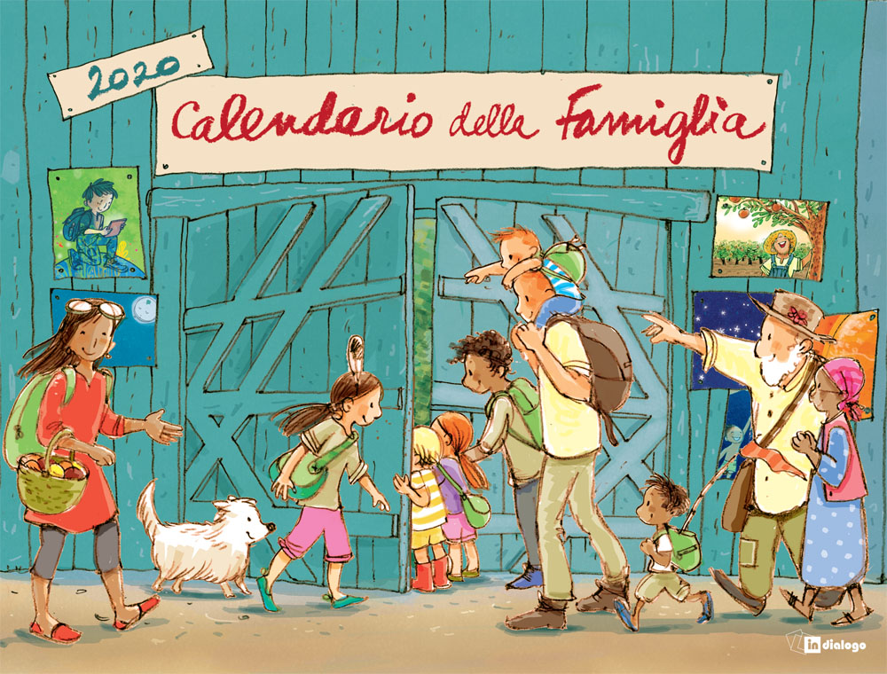 Calendario 2020 Da Colorare Per Bambini.Calendario Della Famiglia 2020 Itl Libri